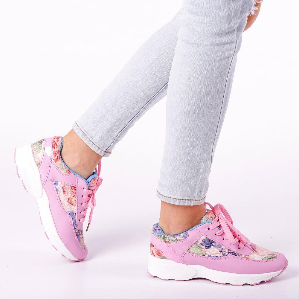 Pantofi sport dama Halley roz
