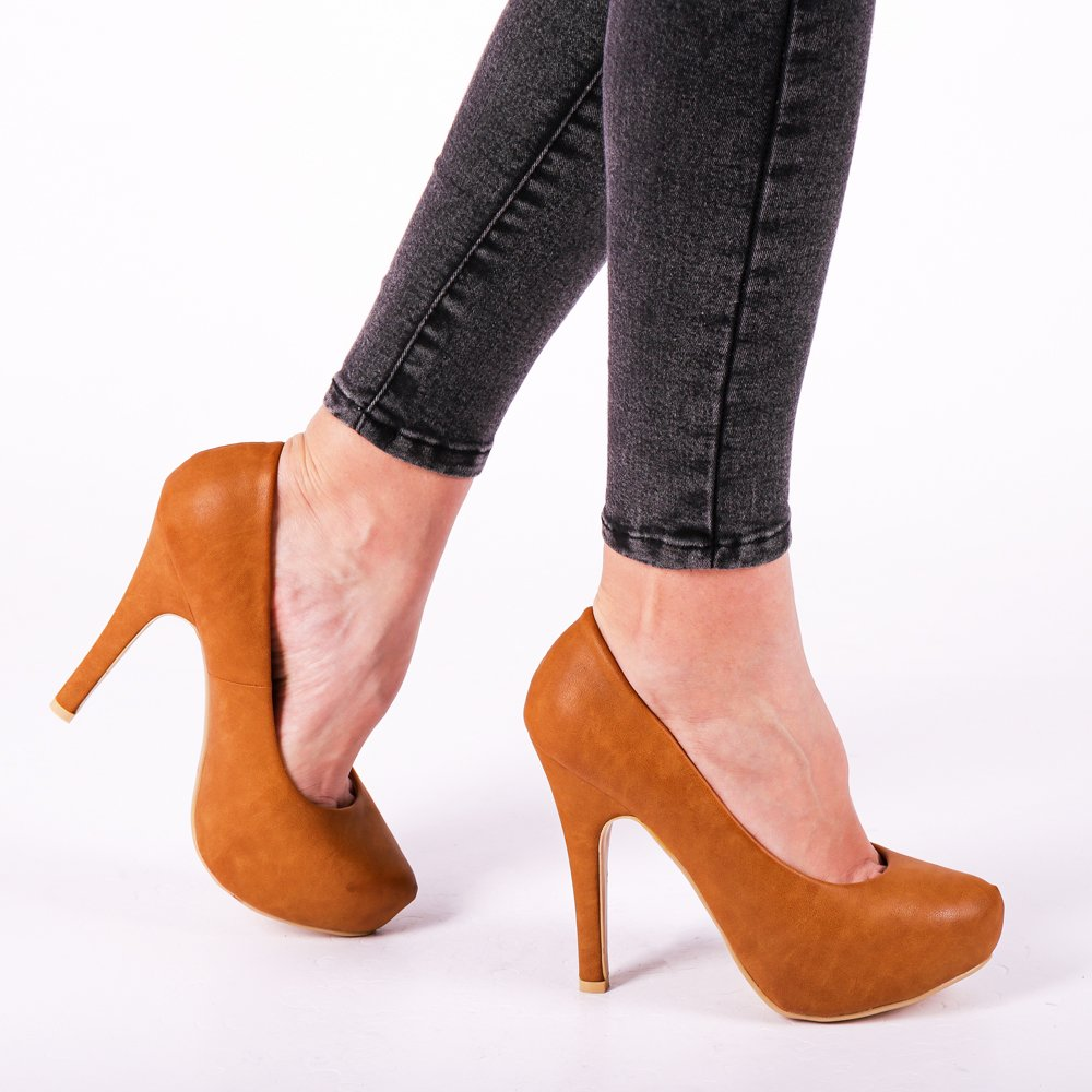 Pantofi dama Ellise camel