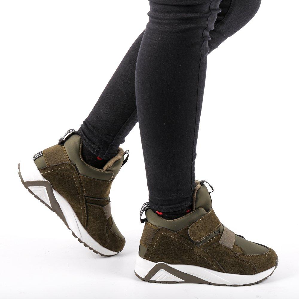 Sneakers dama Coliers verzi