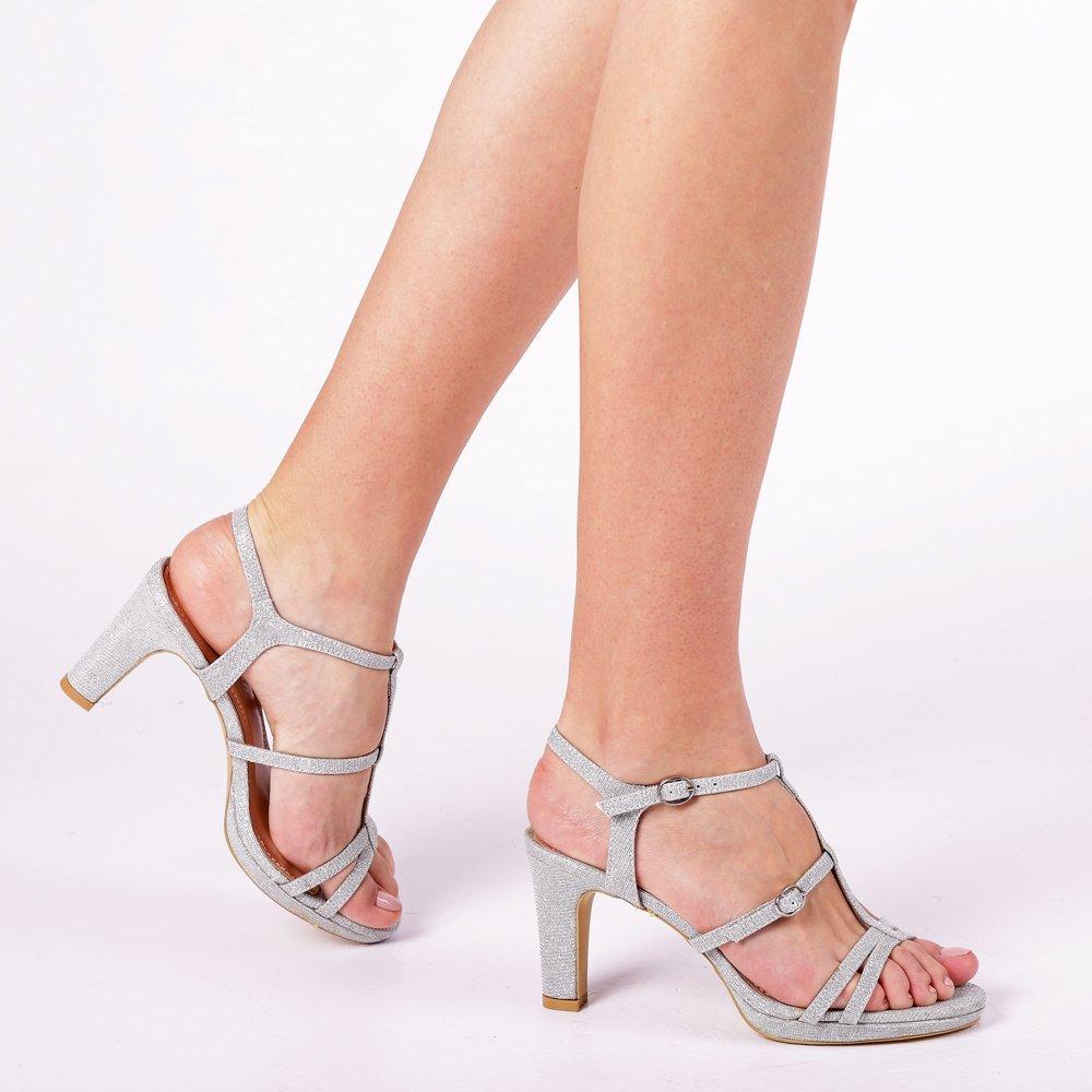 Sandale dama Agneta argintii
