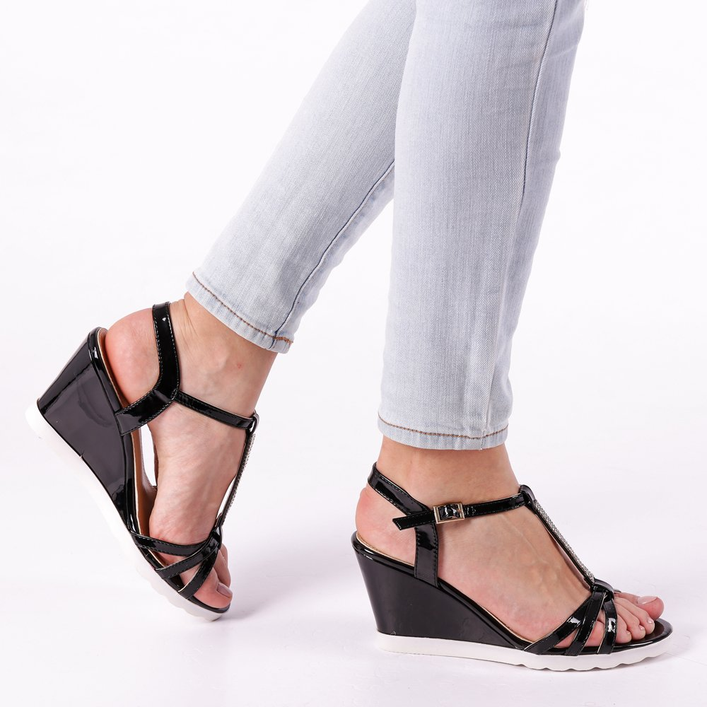 Sandale dama Madeleine negre