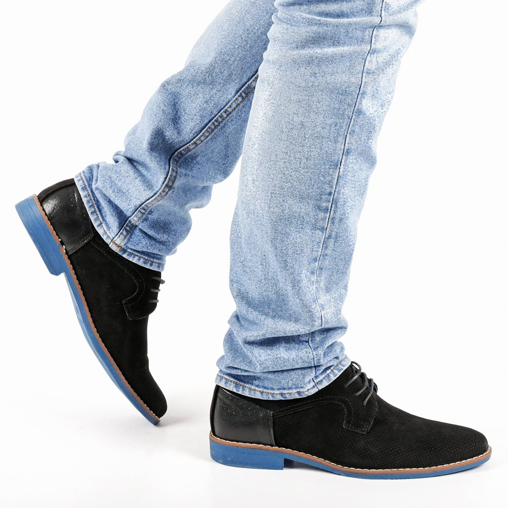 Pantofi barbati Thaddeus negri