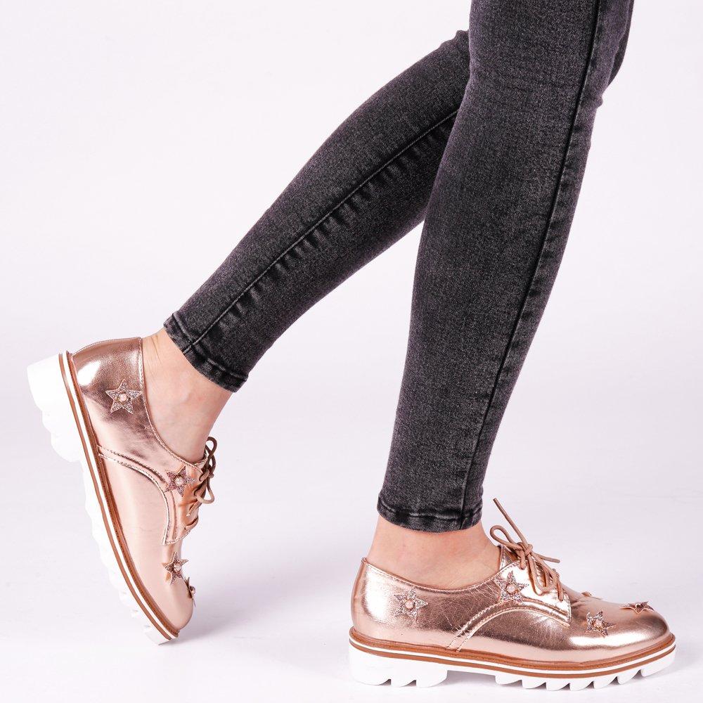 Pantofi dama Nunila bej sampanie