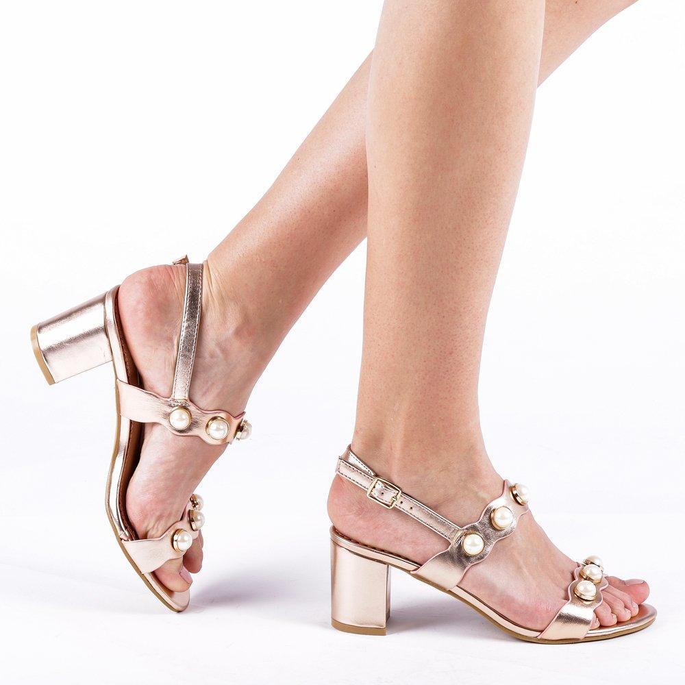 Sandale dama Melendez bej sampanie