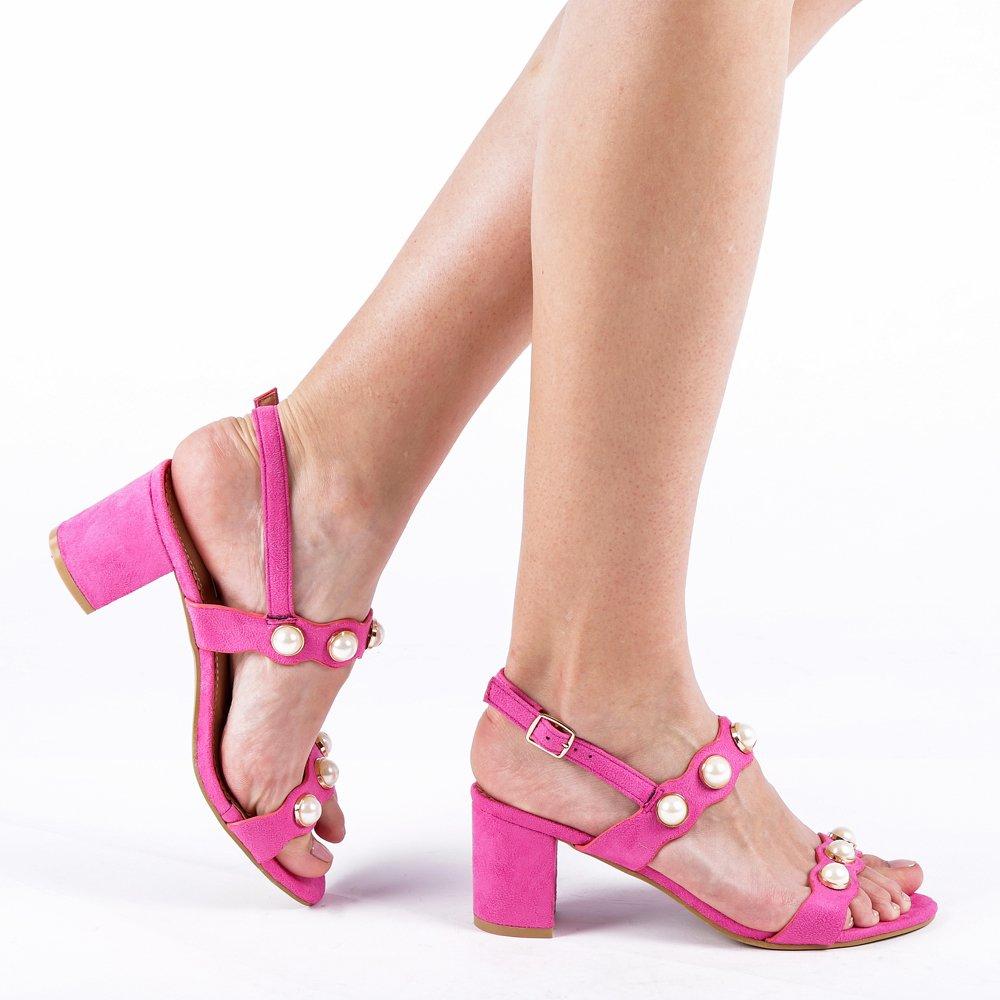 Sandale dama Melendez fucsia