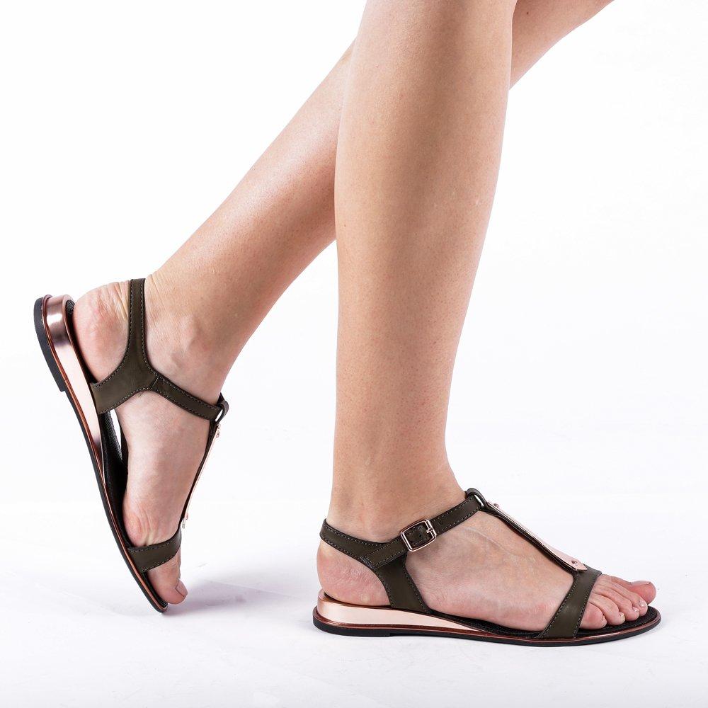 Sandale dama Paige khaki
