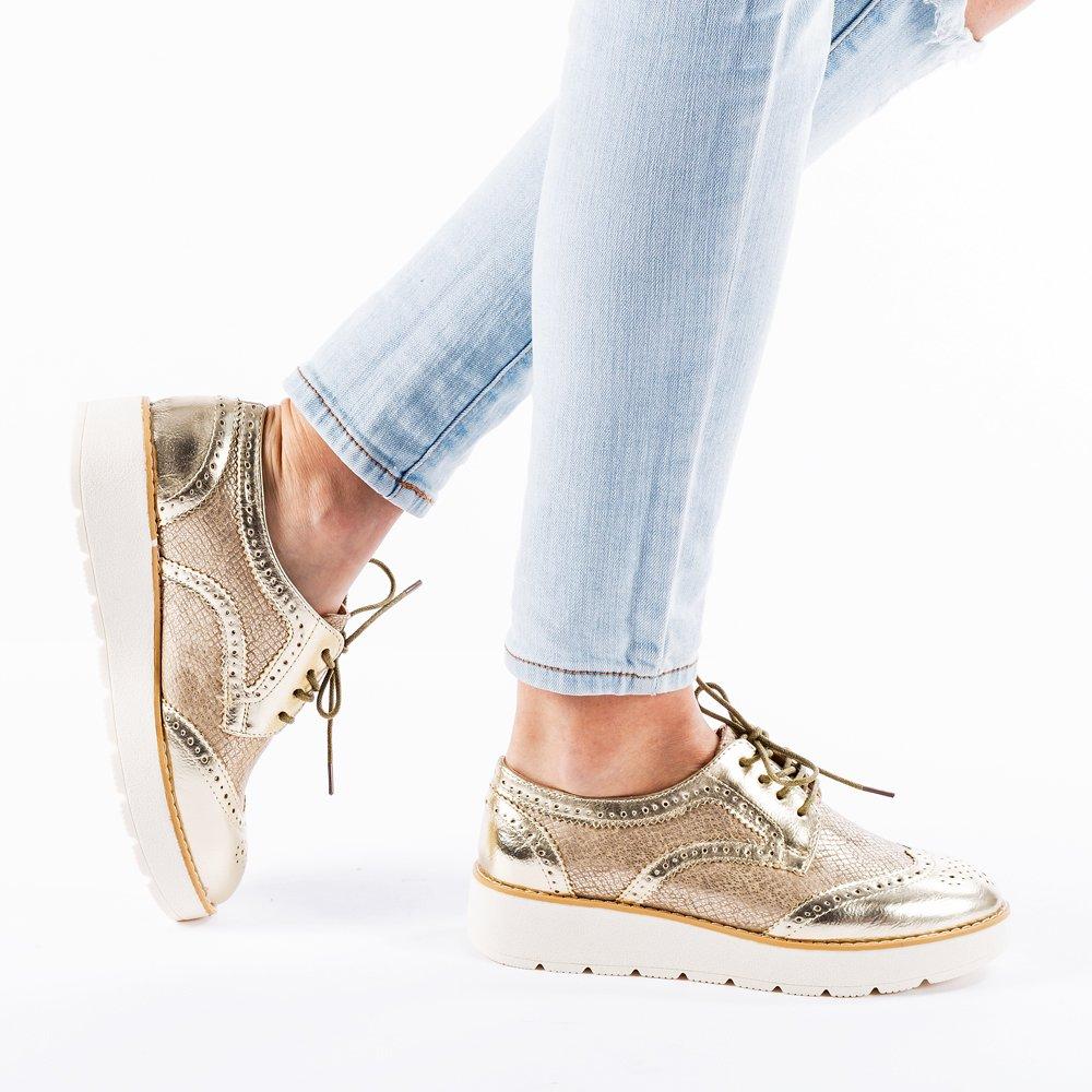 Pantofi dama Thomasina aurii