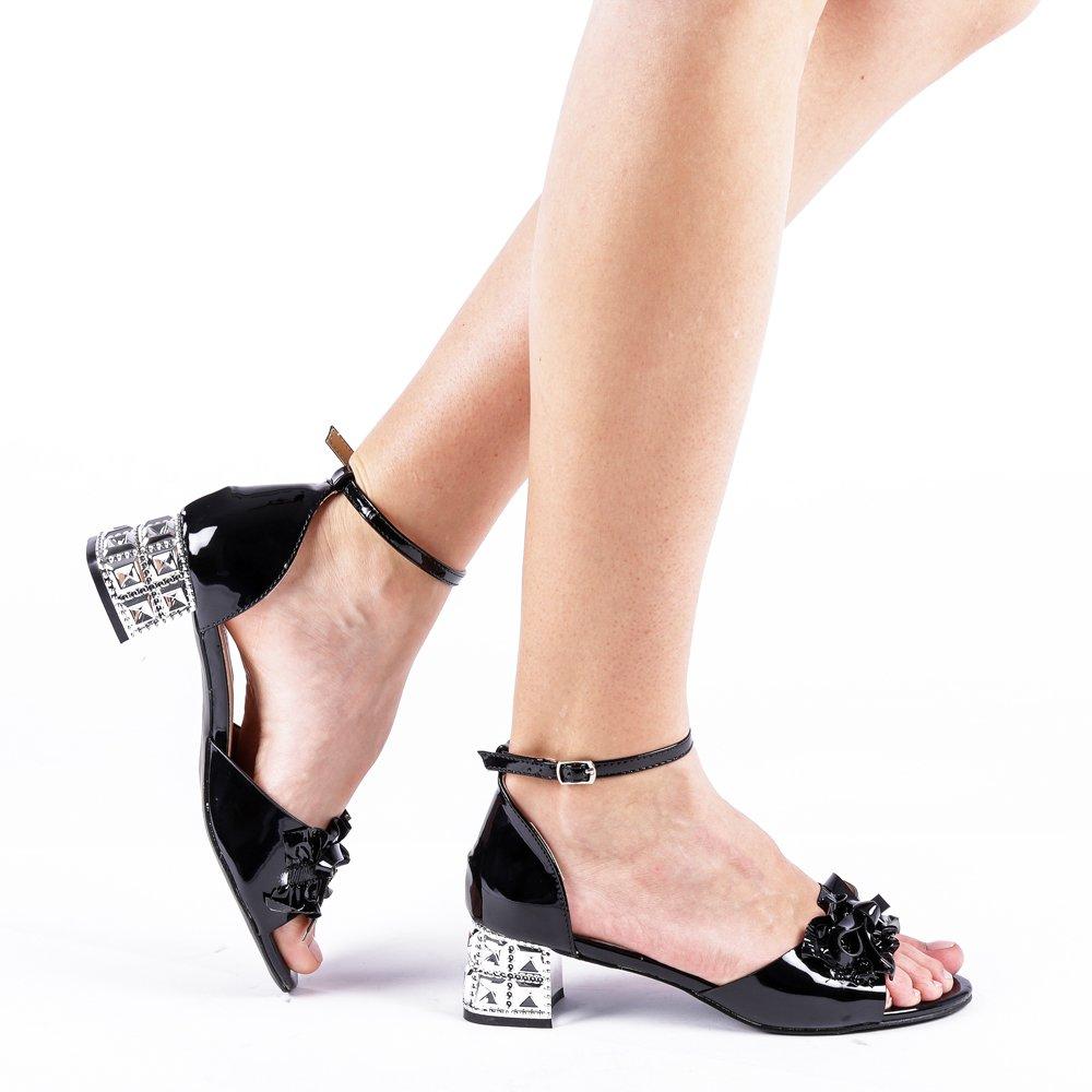 Sandale dama Weisse negre
