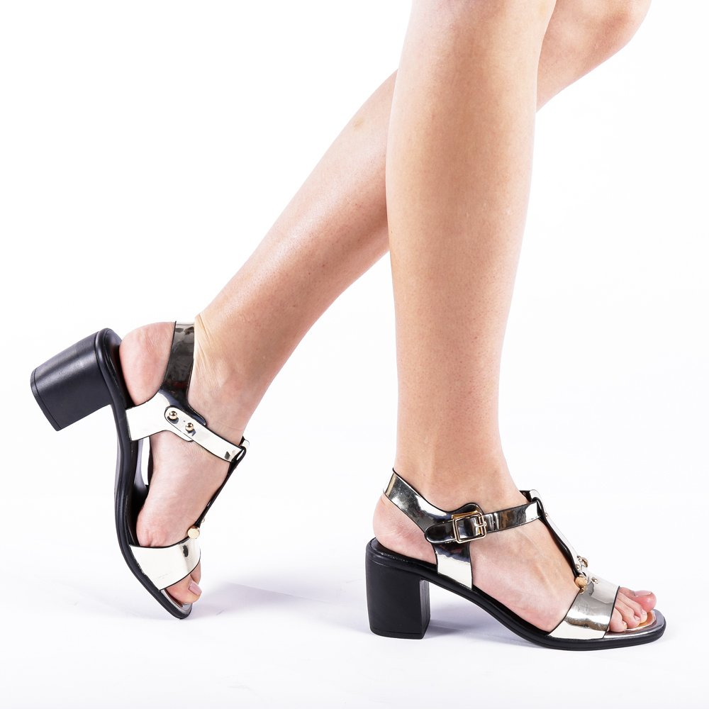 Sandale Dama Caitlyn Aurii