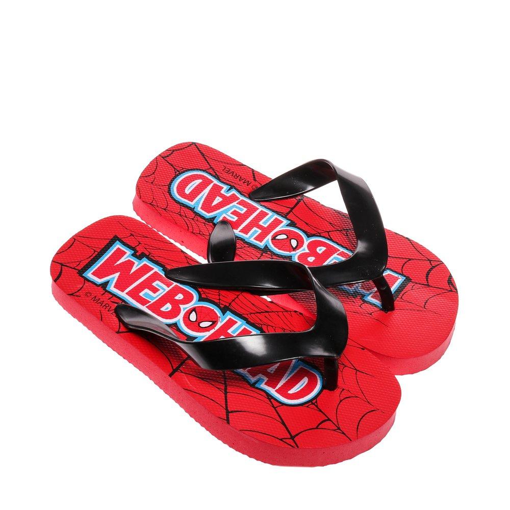 Papuci copii Spider-Man rosu cu negru