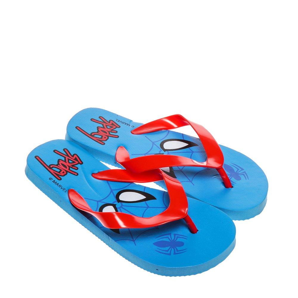 Papuci copii Spider-Man 2 albastru cu rosu