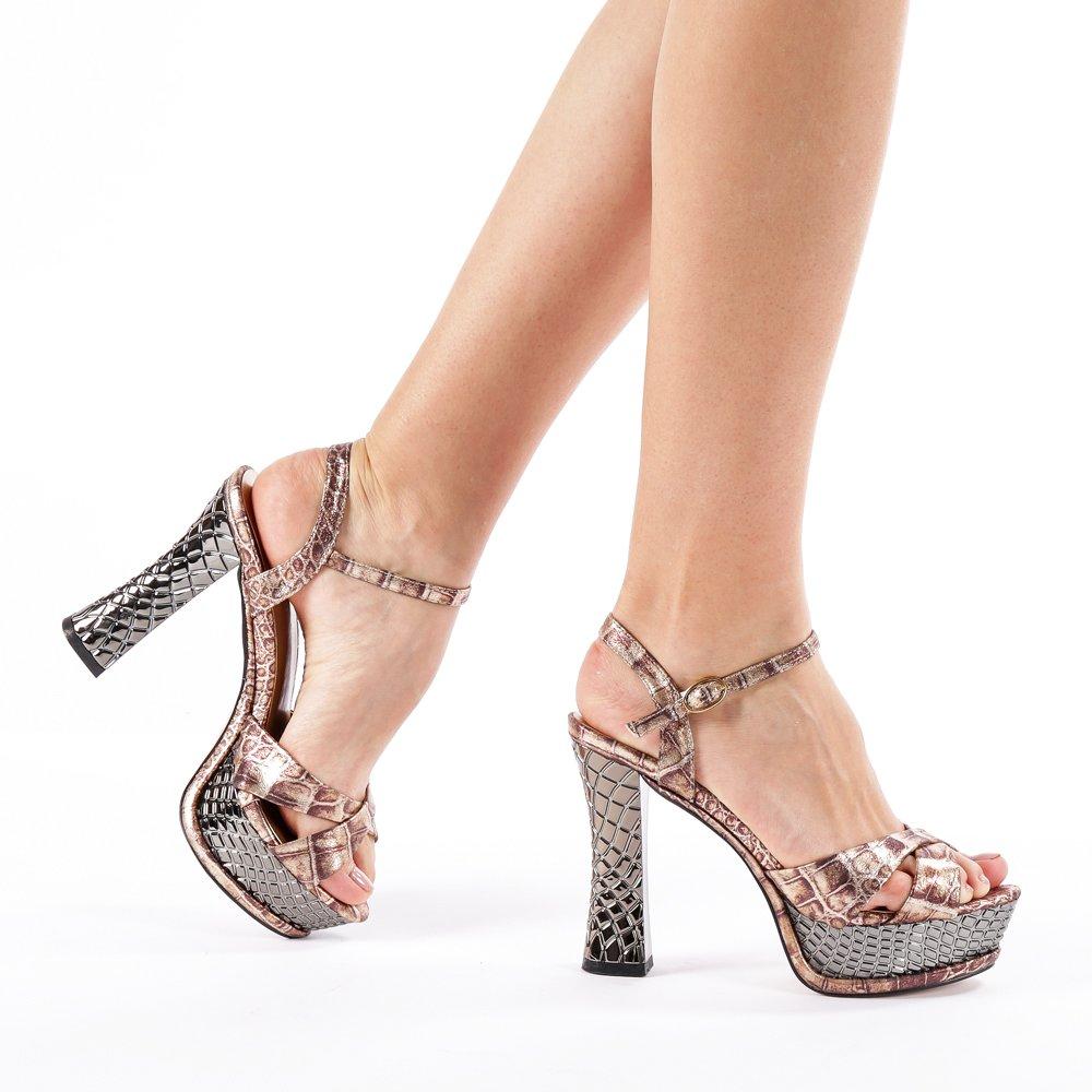 Sandale dama Rosalinda aurii