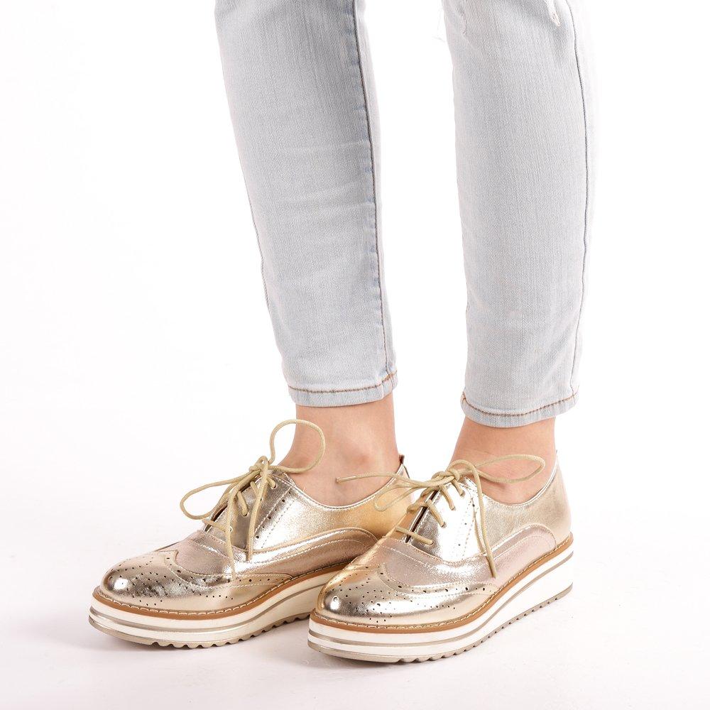 Pantofi dama Mayla aurii