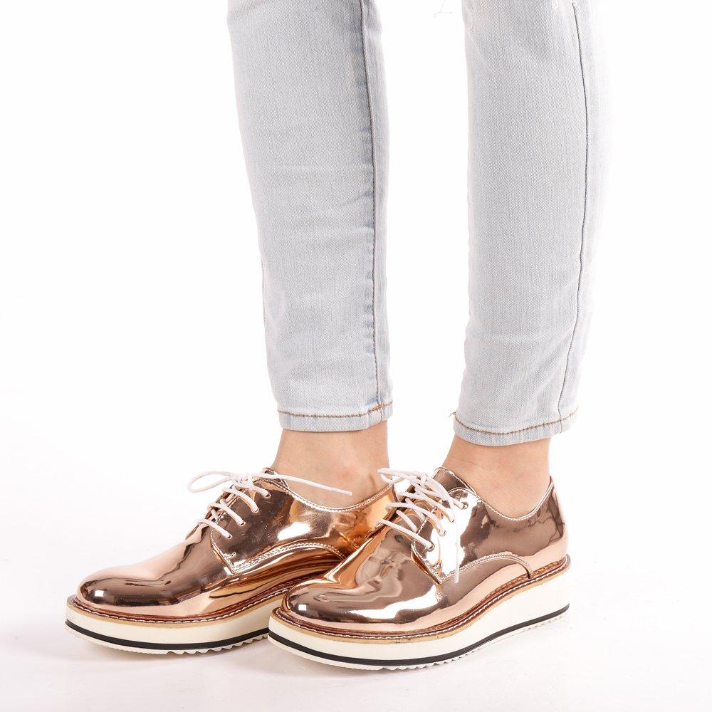 Pantofi dama Aviana sampanie