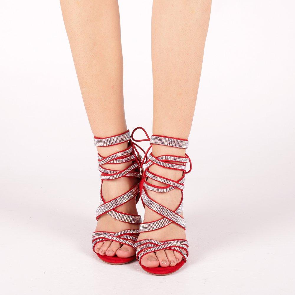 Sandale dama Lupita rosii