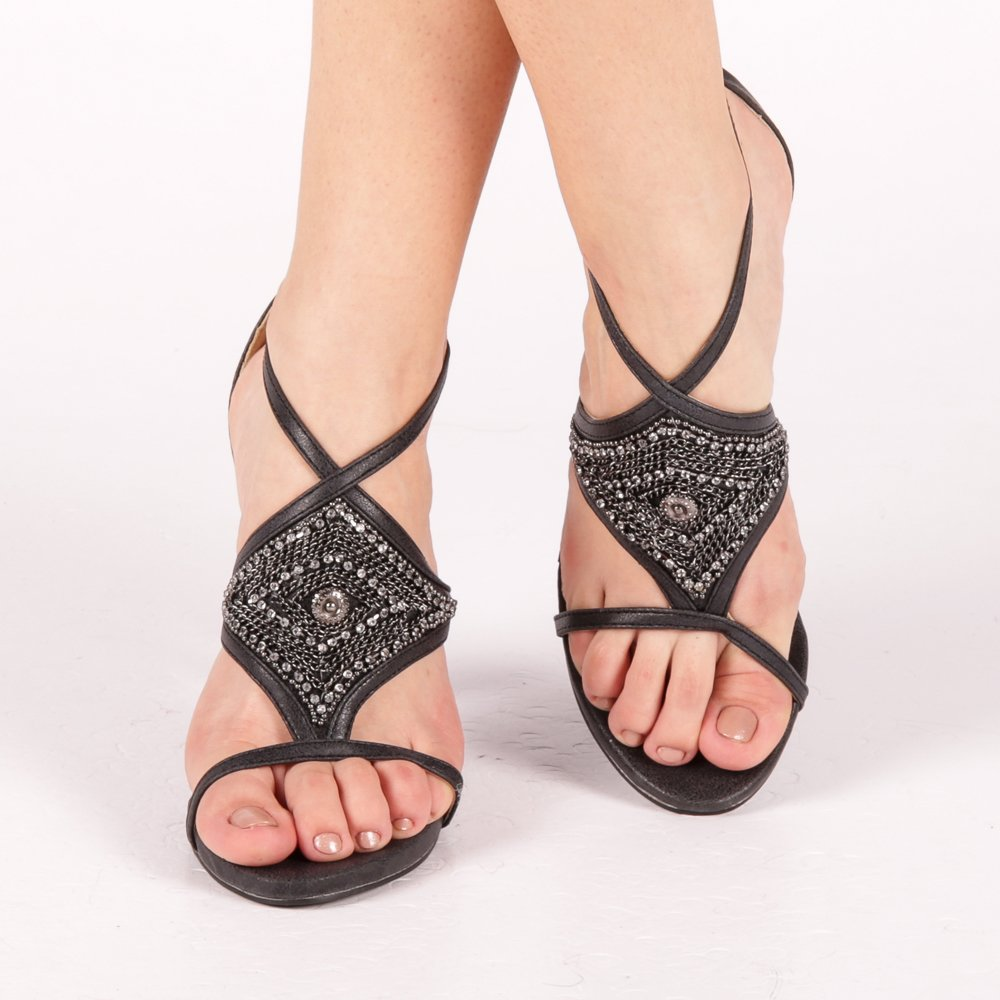 Sandale Dama Zina Negre