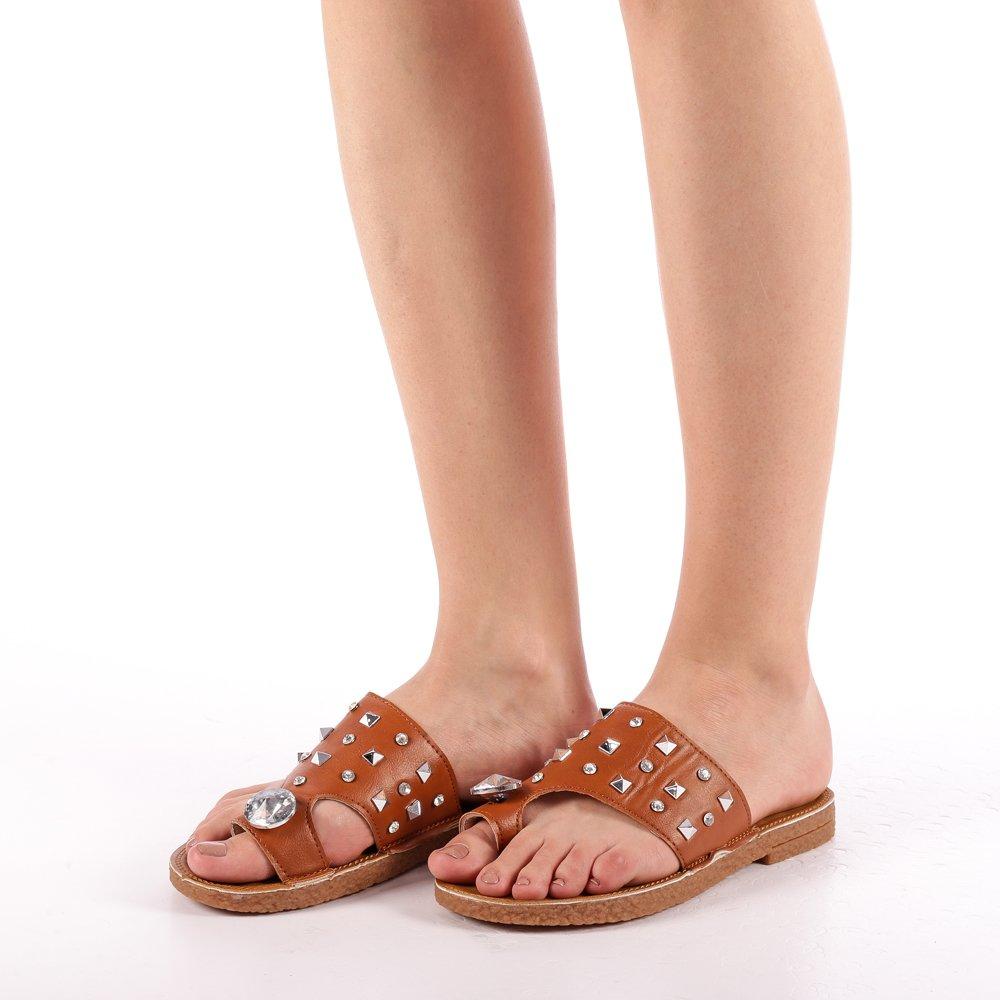 Papuci dama Gia camel