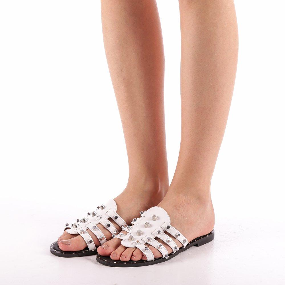 Papuci dama Iolanda albi