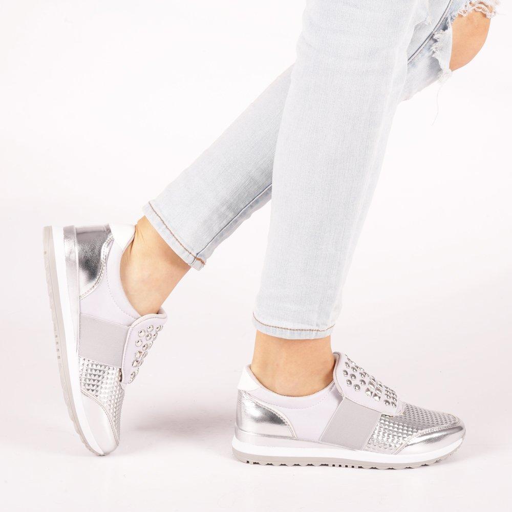 Pantofi sport dama Georgette argintii