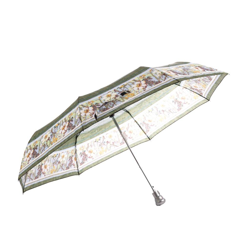 Umbrela dama SW0569 alb cu verde