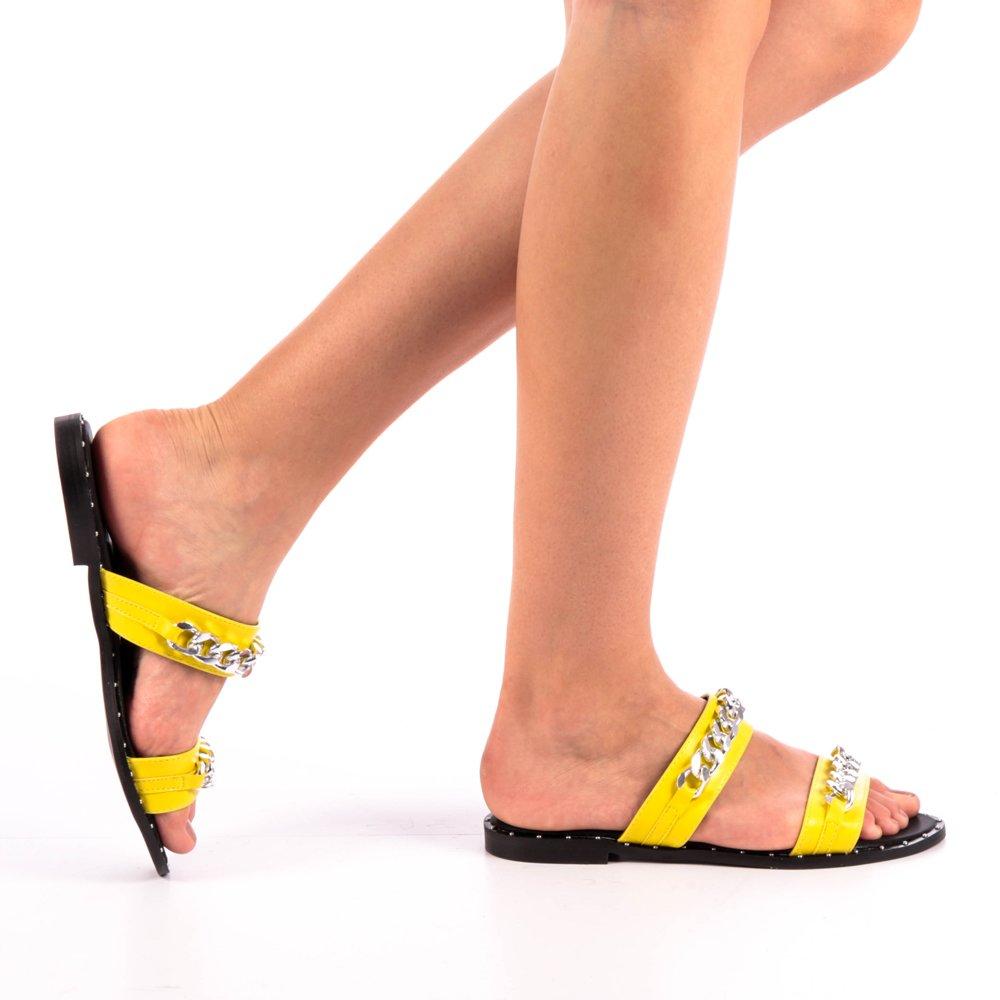 Papuci dama Daria galbeni