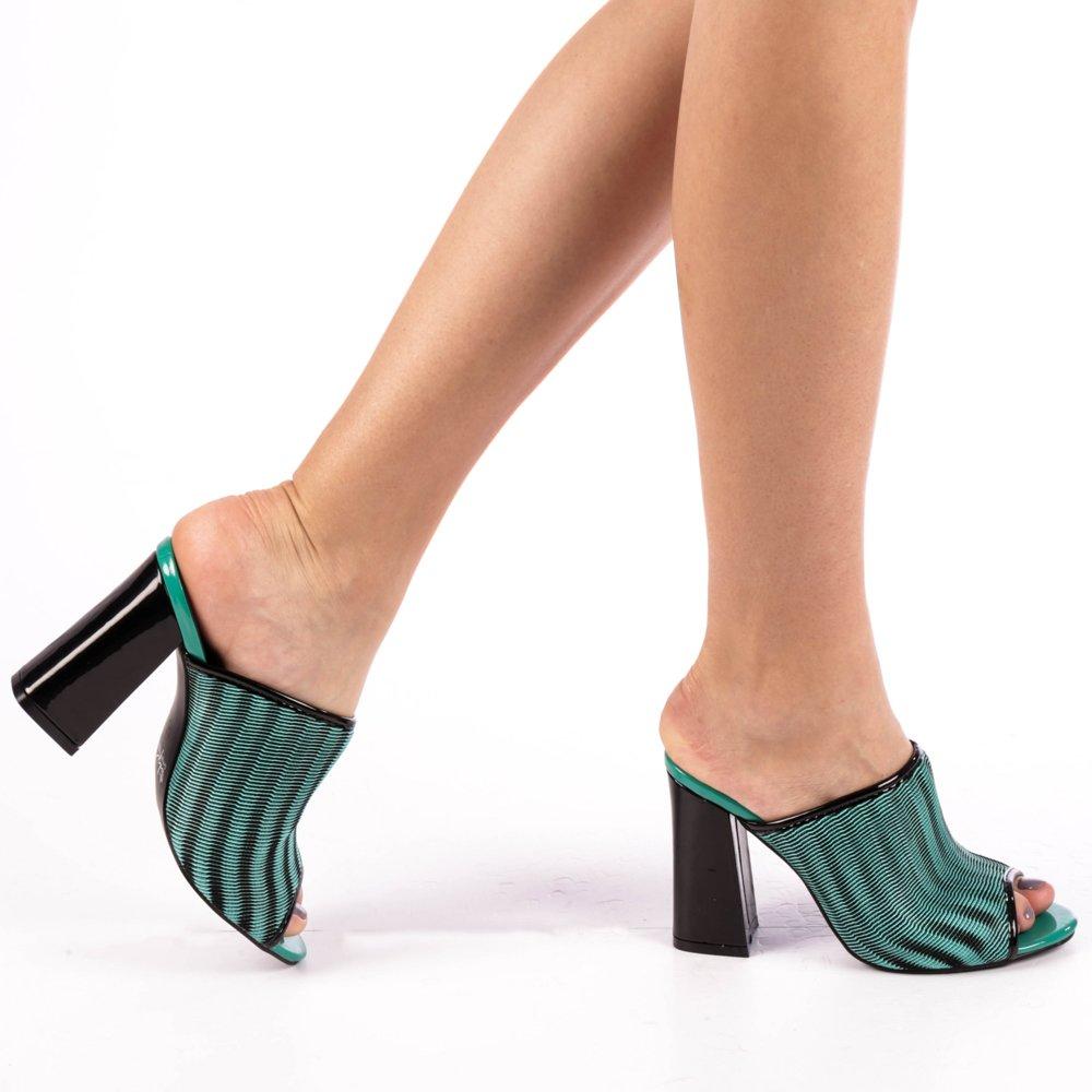 Papuci dama Ruxia verzi
