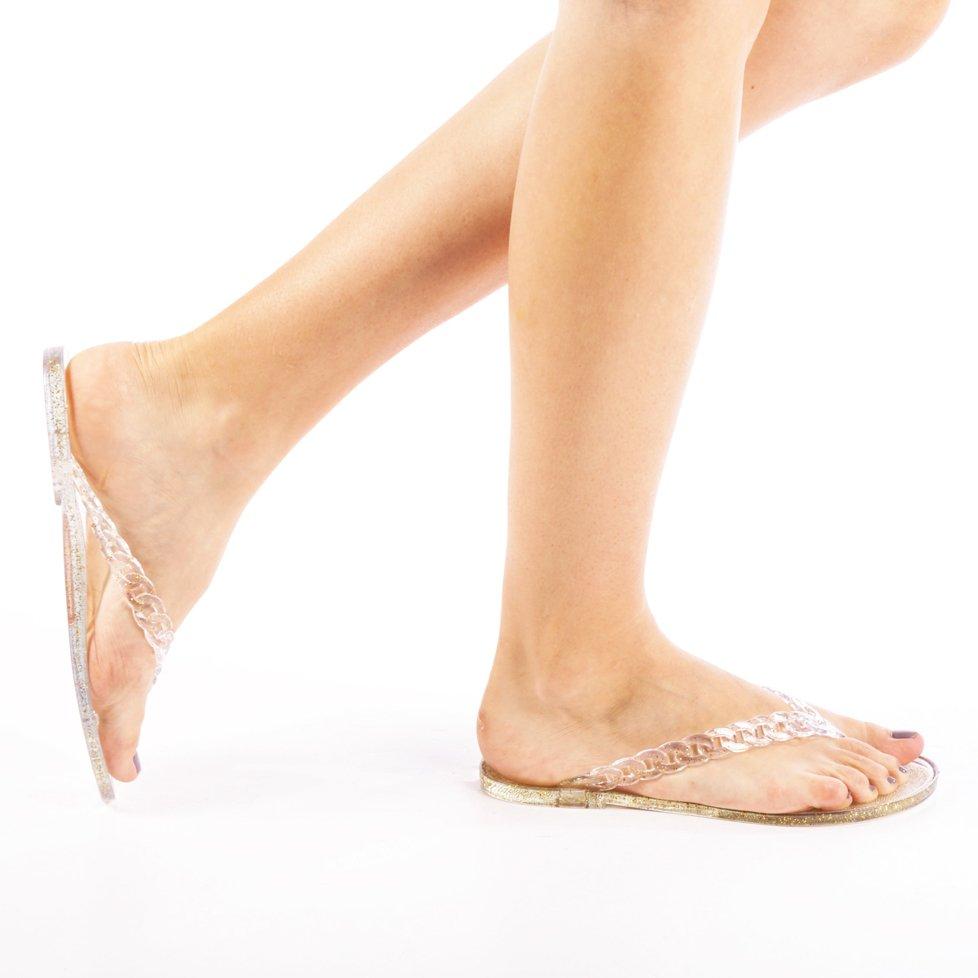 Papuci dama Olivia aurii