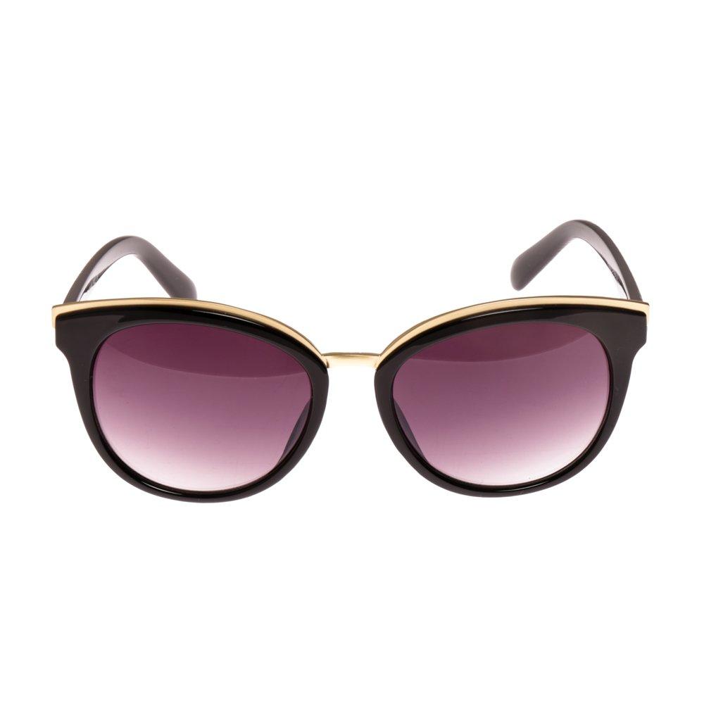 Ochelari de soare dama P5030C-1 negru cu auriu toc protectie