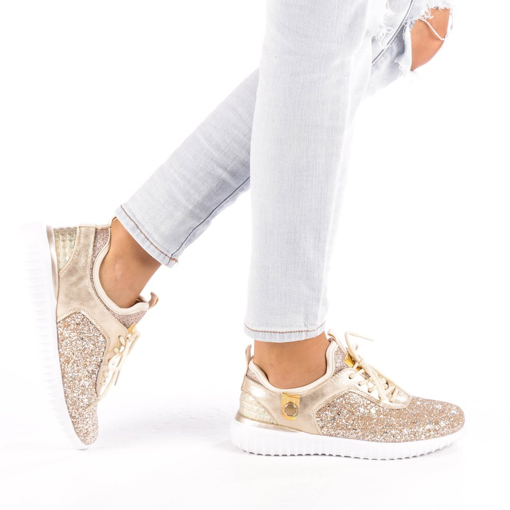 Pantofi sport dama Daciana aurii