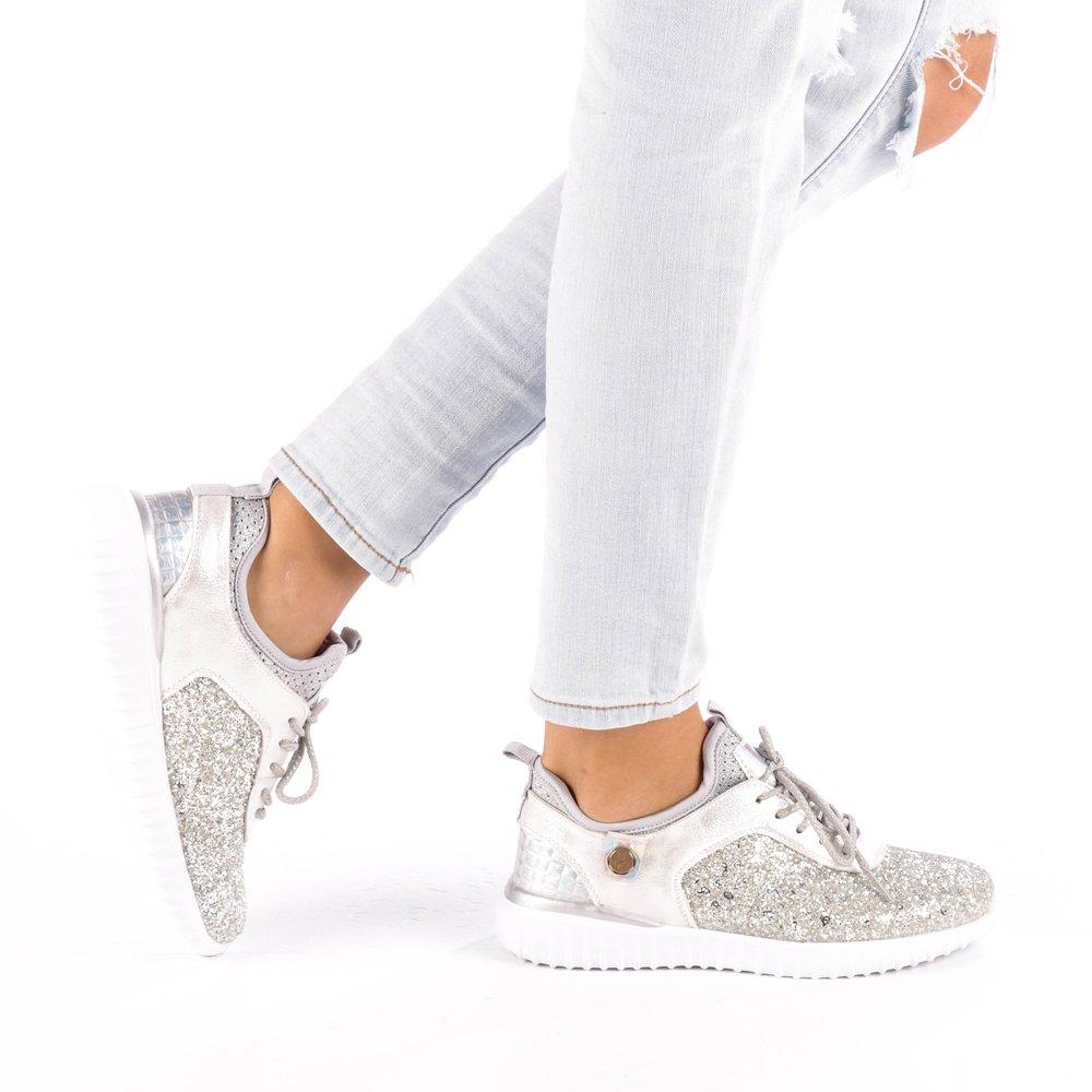 Pantofi sport dama Daciana argintii