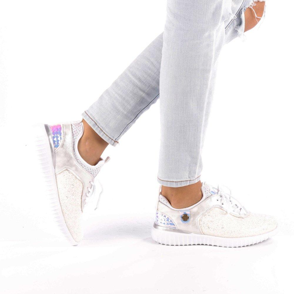 Pantofi sport dama Daciana albi