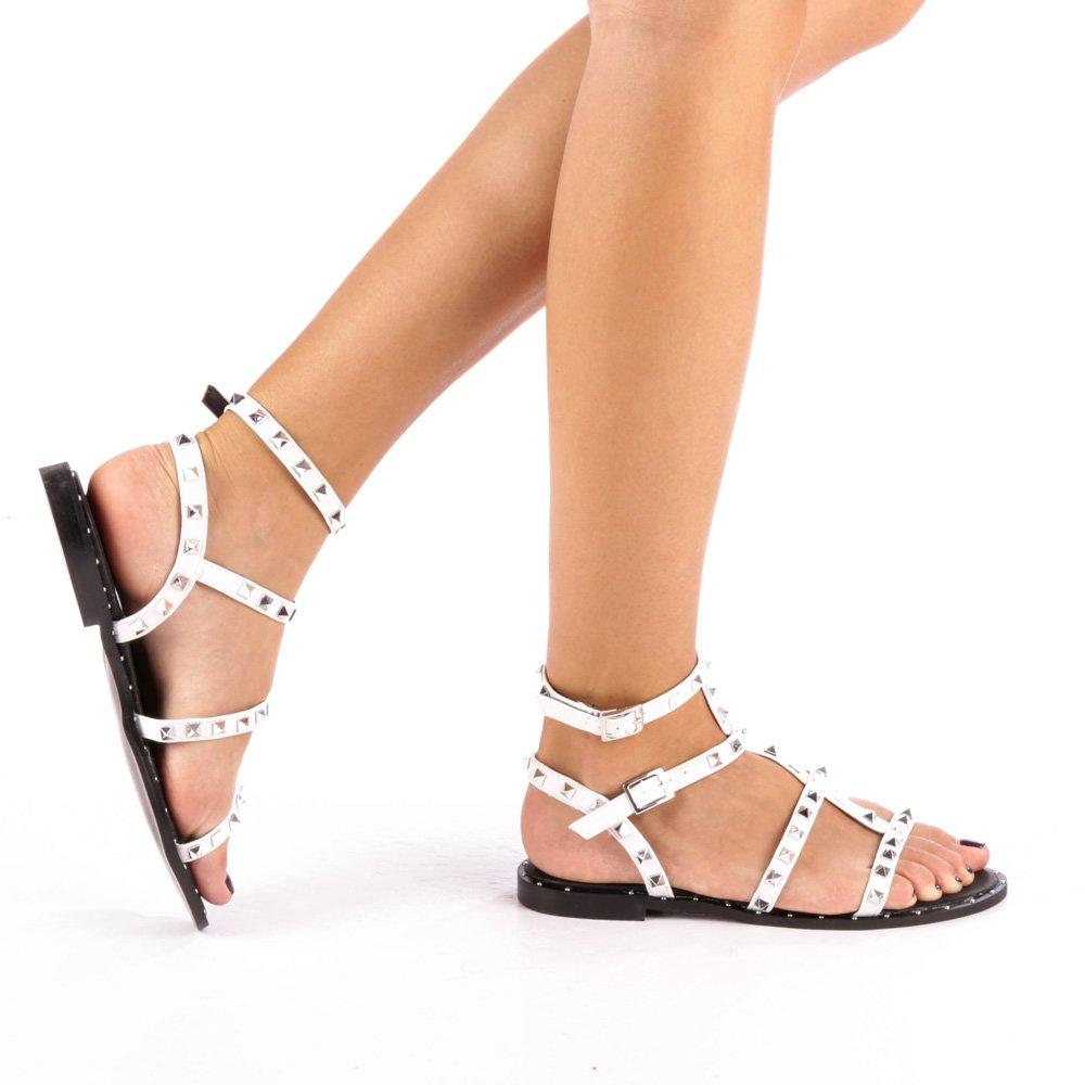 Sandale dama Jasmina albe