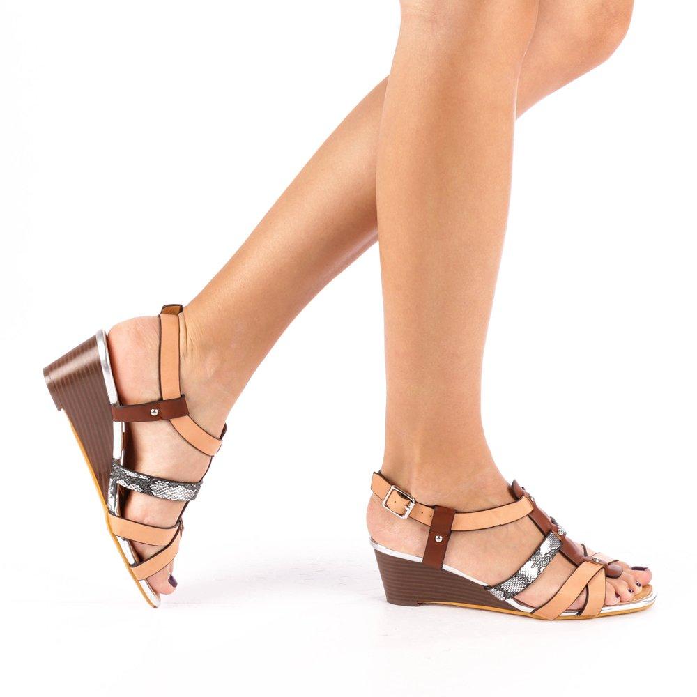 Sandale dama cu platforma Cadis roz