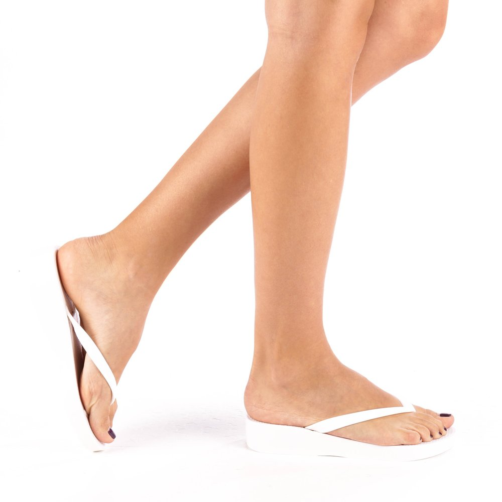 Papuci dama Hera albi