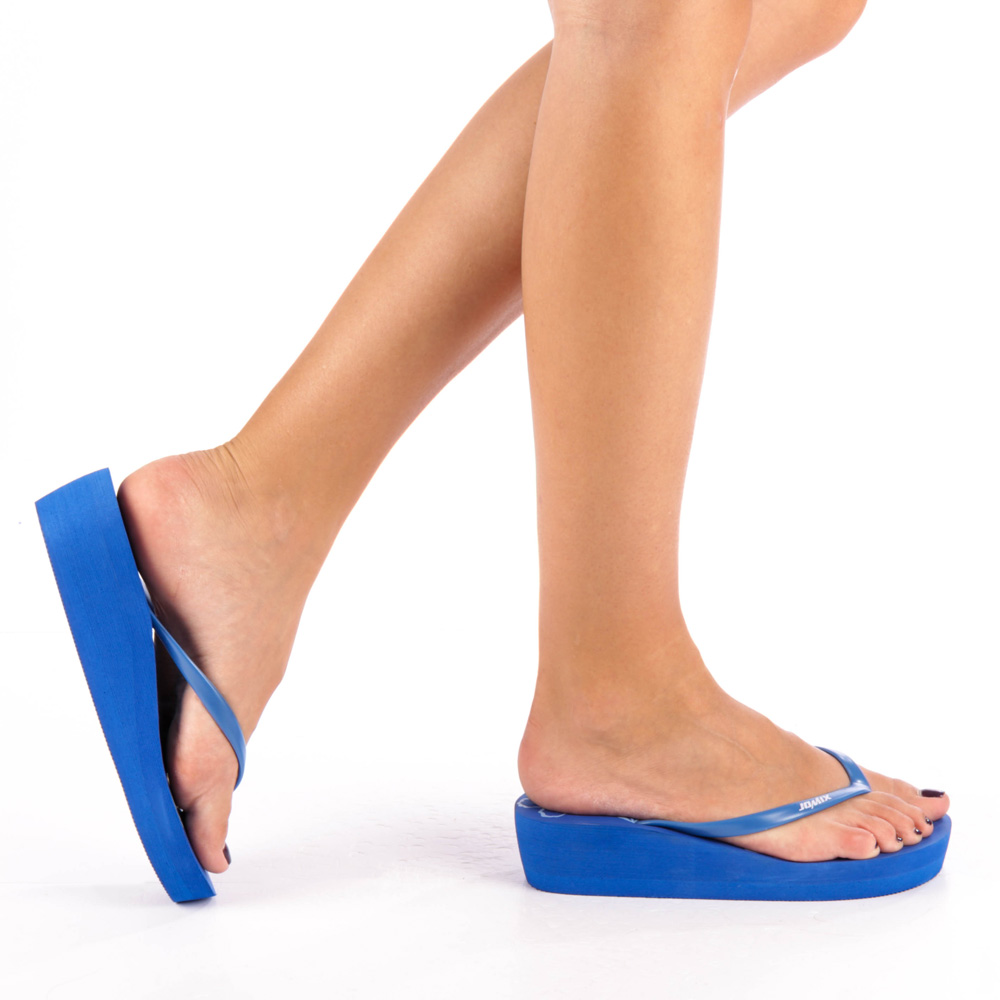 Papuci dama Freesia albastri