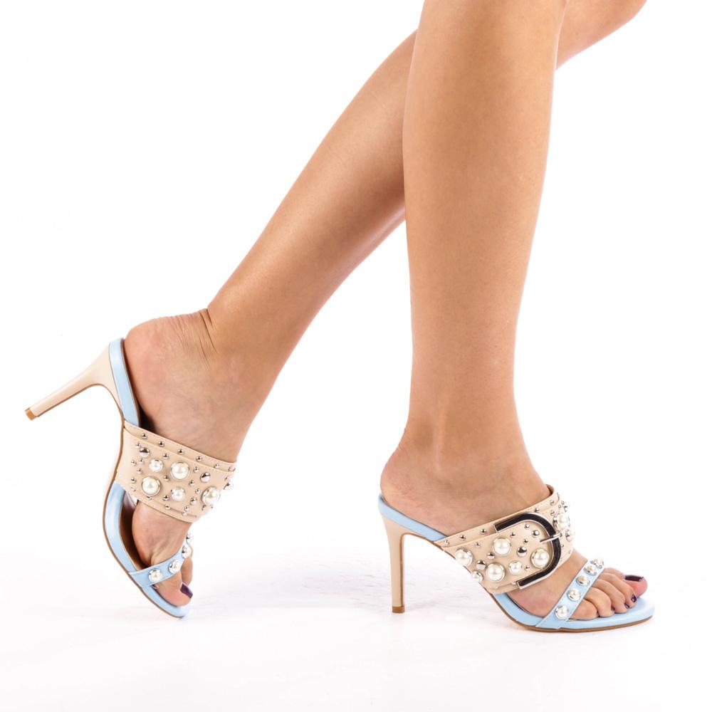 Papuci dama Ciria albastri