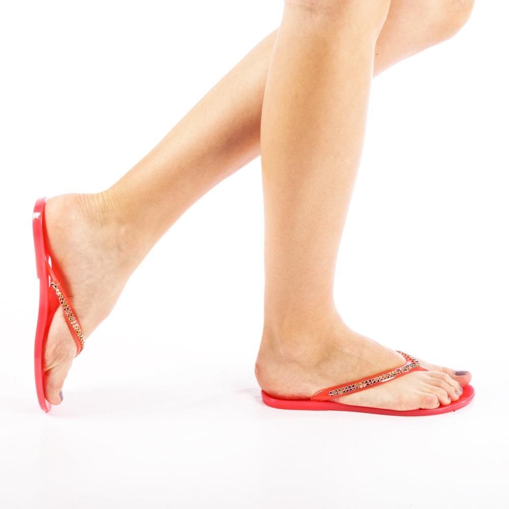 Papuci dama Gemina rosii