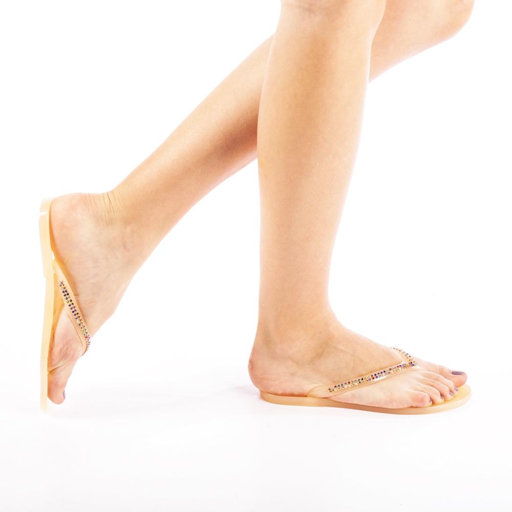 Papuci dama Gemina khaki