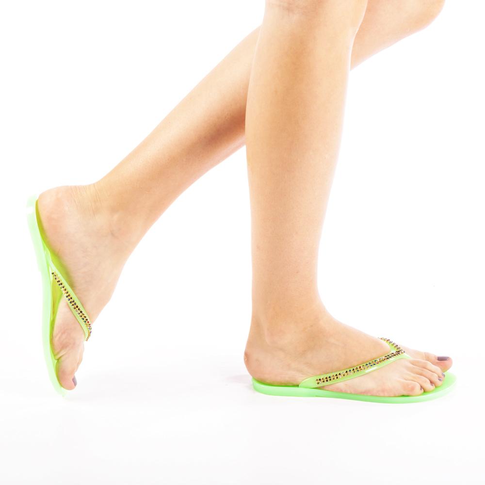 Papuci dama Gemina verzi
