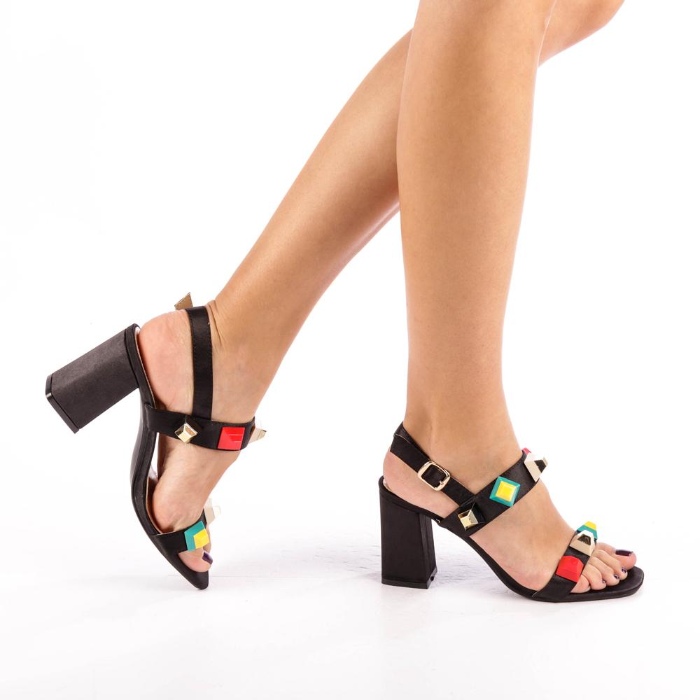 Sandale dama Crysta negre