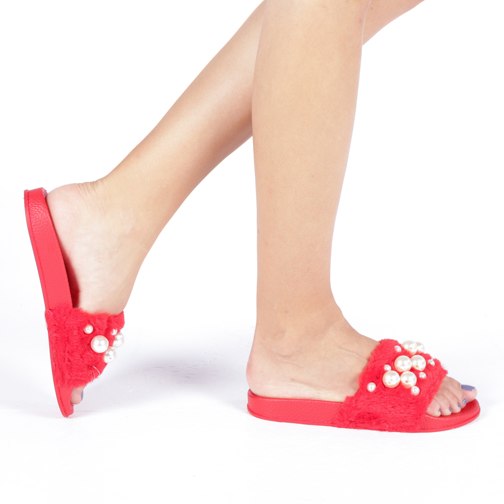 Papuci dama Muna rosii