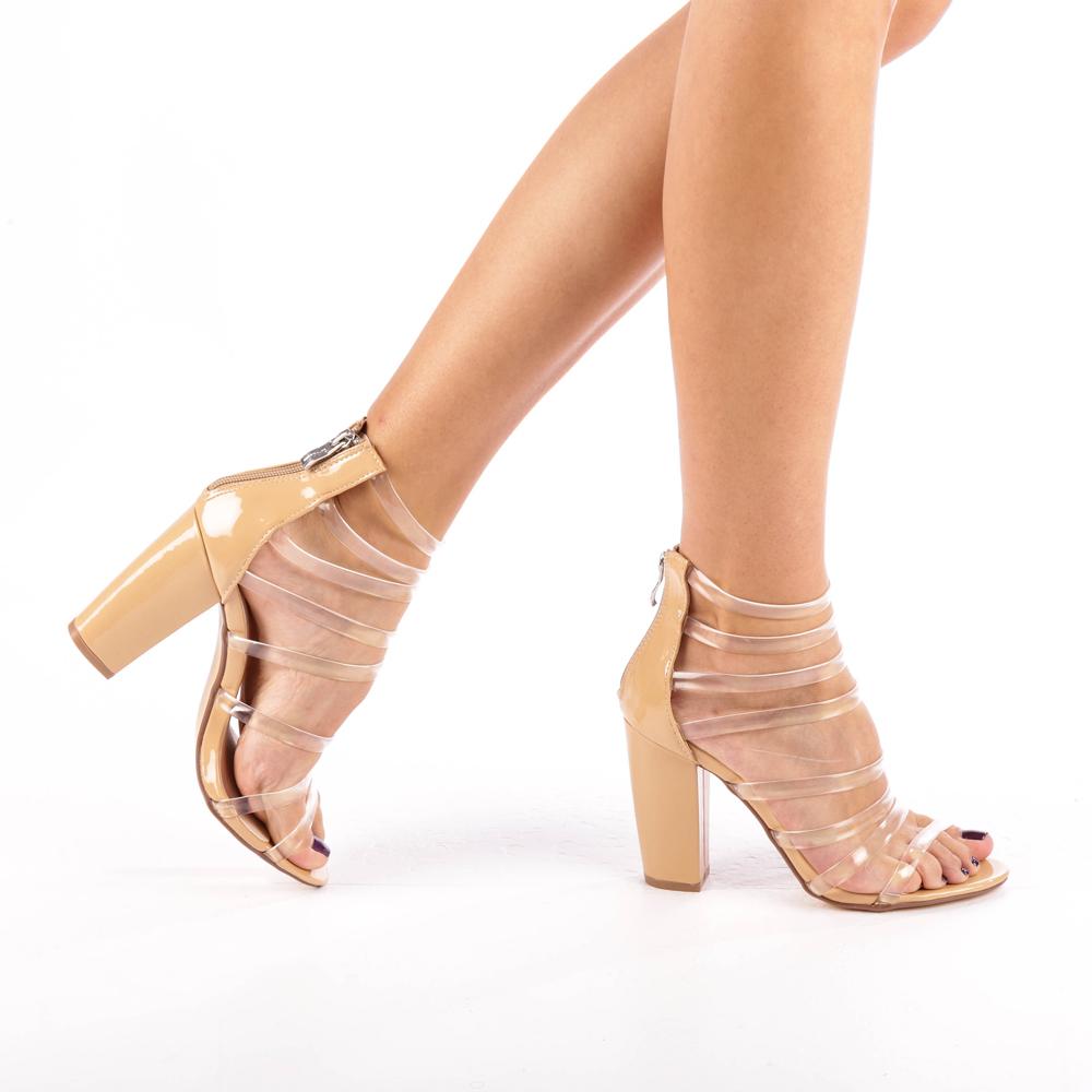 Sandale dama Dessa bej- transparent