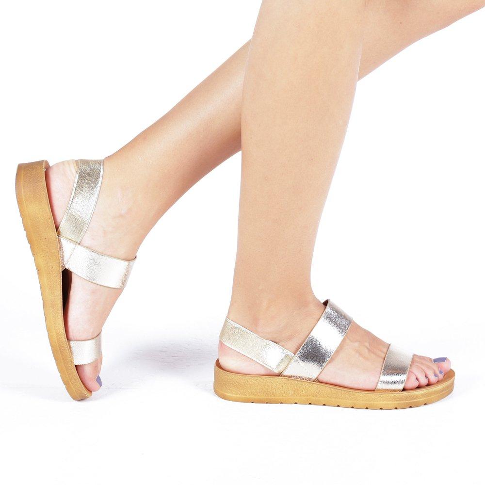 Sandale dama Tess aurii