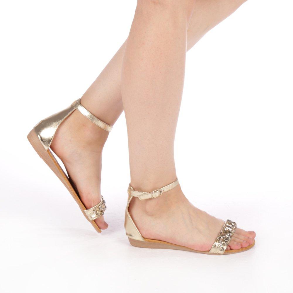 Sandale dama Kisa gold