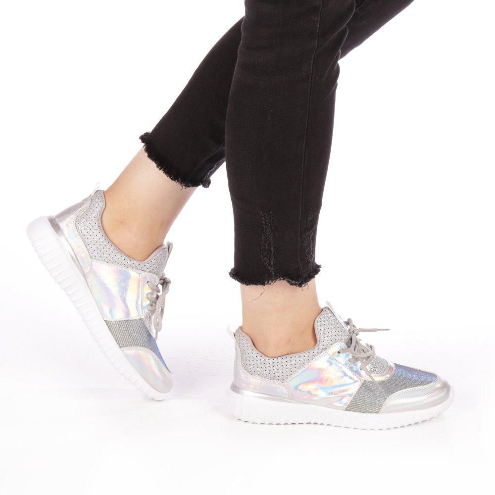 Pantofi sport dama Otilia argintii