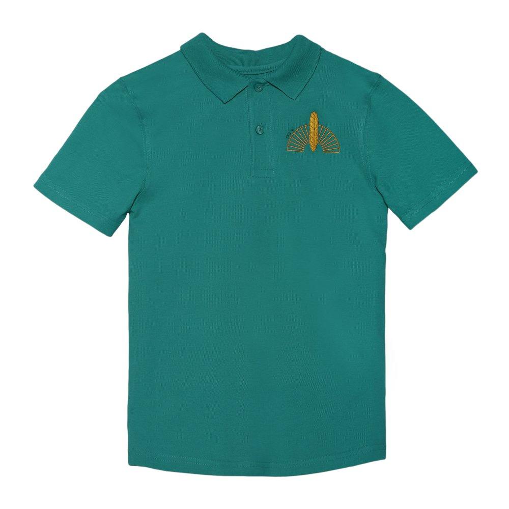 Tricou Copii Polo Cu Maneca Scurta School Verde