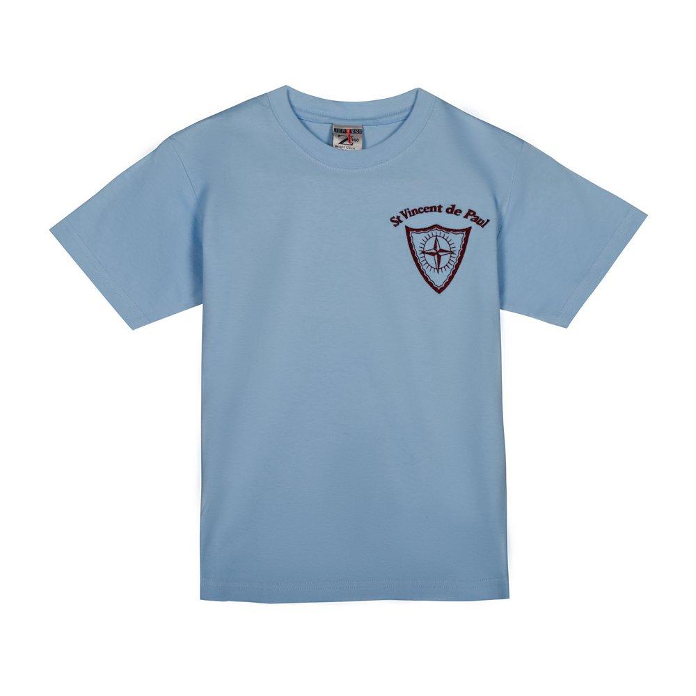 Tricou copii clasic School bleu