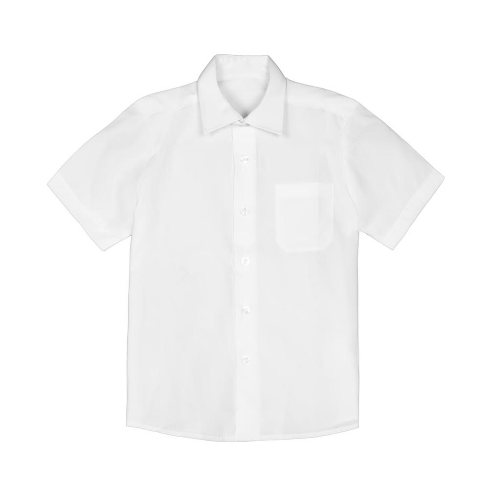 Set 2 camasi baieti George School cu maneca scurta albe