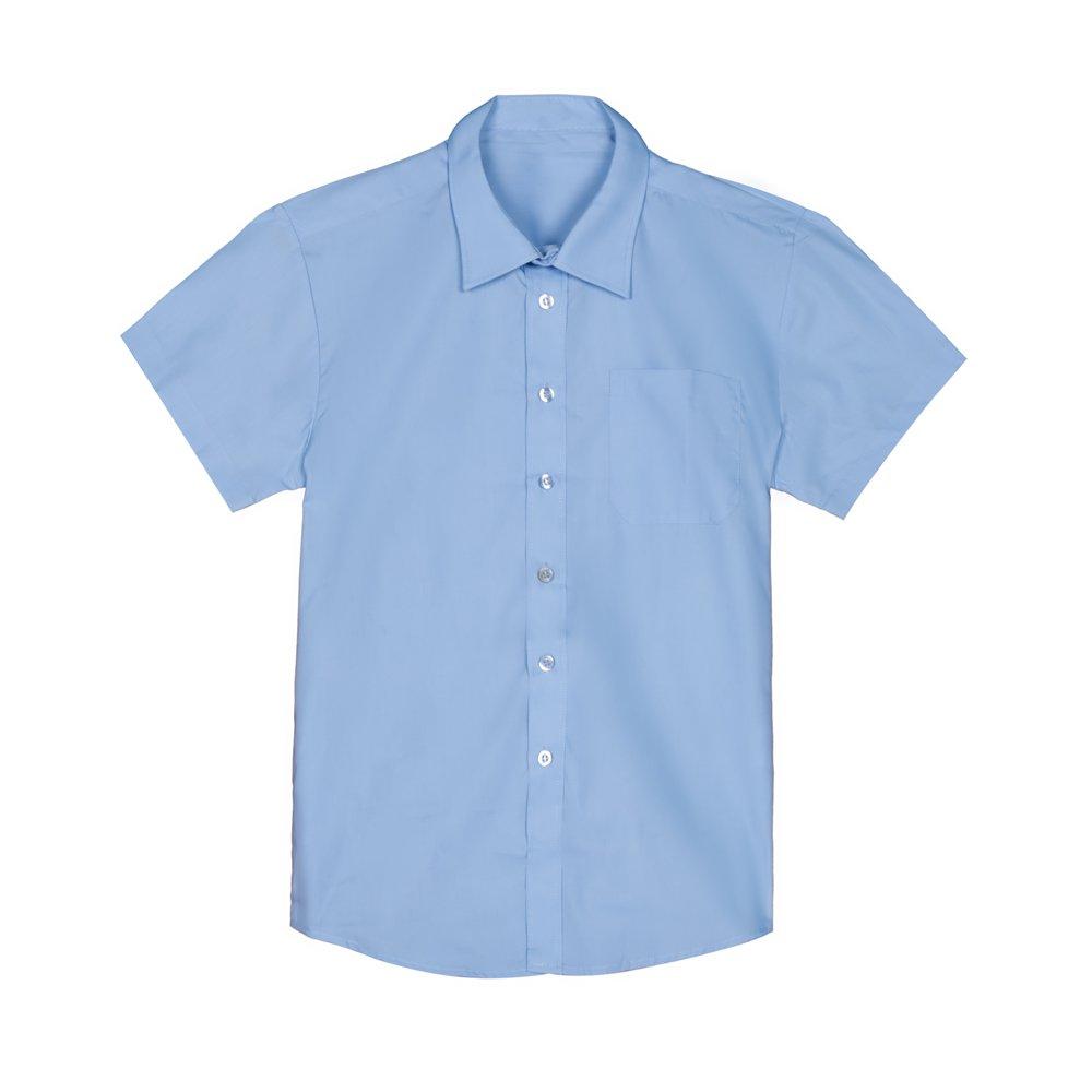 Set 2 camasi fete George School cu maneca lunga albastre