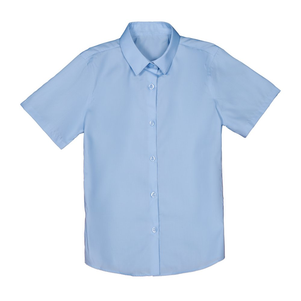 Set 2 camasi fete George School cu maneca scurta albastre